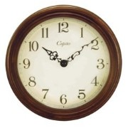 Antique Wooden Wall Clock /Chocolate Brown