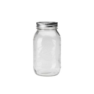 "Ball Mason Jar ""Regular mouth 32oz clear"" メイソンジャー"