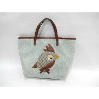 ◆[USED] 送料無料◆グッチ/gucci:ZOO ズー キッズ KIDS トートバッグ 鳥◆ 【中古】