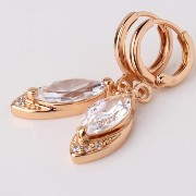 Aida Misa High quality wedding gift marquise crystal drop earring for women 18k gold plated dangle...