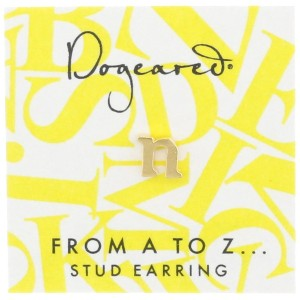 [ドギャード] DOGEARED from a to z earring, GD, little U V3GGZ00212004