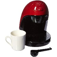 Brentwood TS-112R Single Cup Coffee Maker, 8.75 x 6.75 x 9.5-Inch, Red by Brentwood