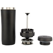 Espro Stainless Steel 12 Ounce Travel Press with Tea Filter, Matte Black by Espro