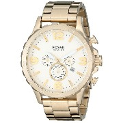 FOSSIL Nate Chronograph Stainless Steel Gold-Tone JR1479