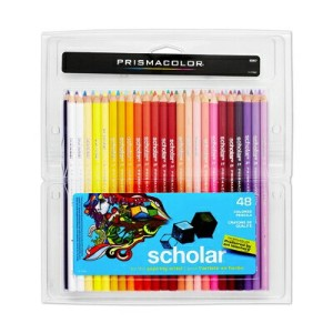 Prismacolor プリズマカラー 最高級色鉛筆 47色 48本 ビギナー用 簡易パッケージ Prismacolor Scholar Colored Pencils, 48-Count 92807