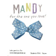 MANDY Baby Bows Light Blue with White Dot
