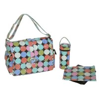 Kalencom Laminated Buckle Bag Disco Dots Cocoa マザーズバッグ 綿ラミネートコート KC0001-08