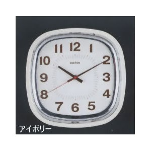 [DULTON]ダルトン クロックSQUARE WALL CLOCK IVORY S72679IV
