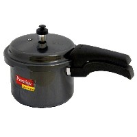 Prestige PRHA3 Deluxe Hard Anodized Black Color Pressure Cooker - 3 Litres