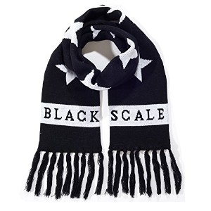 【ブラックスケール】 BLACK SCALE The Hide & Seek Scarf in Black 【並行輸入品】