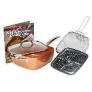 Copper Chef 5-Piece Deep 9.5-Inch Square Pan Set by Copper Chef