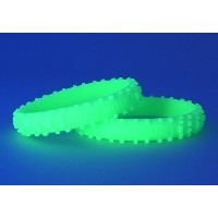 RIDE ON Wristbands (Knobby Bands)Glow Green リストバンド