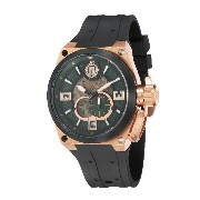 Ballast VALIANT Automatic Skeleton Men Black Integrated Silicon Strap Watch - BL-3129-08