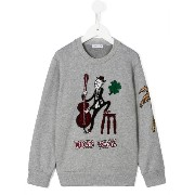 Dolce & Gabbana Kids double bass player patch sweatshirt