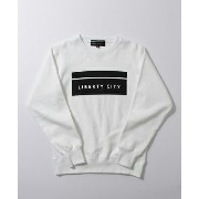 LIBERTY CITY(リバティーシティ) [BOX LOGO] SWEAT C/N SHRIT WHITE