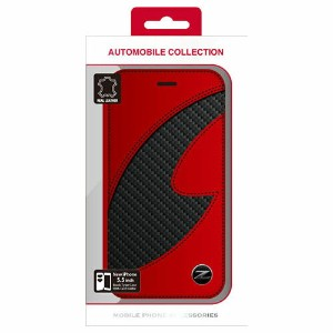 NISSAN 公式ライセンス品 FAIRLADY Z CARBON LEATHER BOOK TYPE CASE RED iPhone6 PLUS用 NZ-P55B1RD