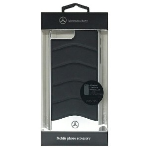 MERCEDES WAVE III Genuine Leather + Brushed Aluminium Hard Case - Black MEHCP7LCUSBK