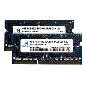 Adamanta 8GB (2x4GB) Laptop Memory Upgrade for Packard ベル イージー Note LM98-JN-038BE DDR3 1066 PC3...