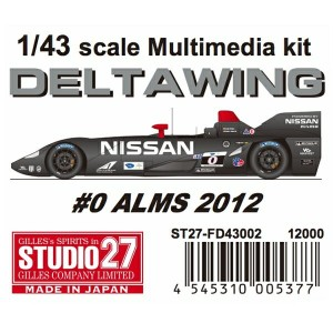 FD43002 DELTA WING #0 ALMS 2012 1/43scale Multimedia kit