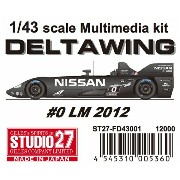 FD43001 DELTA WING #0 LM 2012 1/43scale Multimedia kit