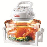 Hometech 12 Quart 1200W Halogen Infrared Cooking Convection Countertop Toaster Oven,White by...