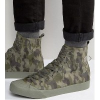 Sale ASOS Lace Up High Top Sneakers in Green Faux Suede スニーカー ASOS(エイソス) バイマ BUYMA