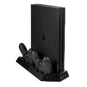 PS4 pro 専用 縦置きスタンド 冷却ファン 搭載 [メーカー保証90日間]