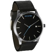 MVMT Watches Silver Case with Black Leather Strap Men's Watch 男性 メンズ 腕時計 【並行輸入品】