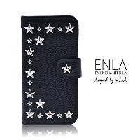 ENLA STAR STUDDED NOTEBOOK TYPE LEATHER CASE - iPhone6s iPhone6s Plus iPhone6 iPhone6Plus iPhone5s...