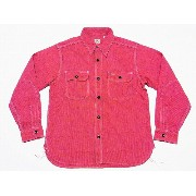 SUGAR CANE[シュガーケーン] ワークシャツ ジーンコード 長袖 SC25511 JEAN CORD L/S WORK SHIRT (RED) 送料無料 代引き手数料無料 【RCP】