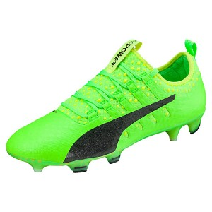 プーマ エヴォパワー VIGOR 1 FG メンズ green gecko-Puma Black-safety yellow