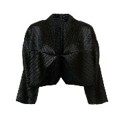 Pleats Please By Issey Miyake pleated cropped jacket
