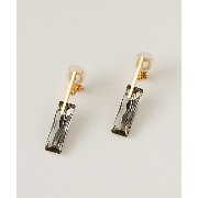 <LULA MAE> Bagguette Short Earrings Gray (LME16D04GY00120) グレー アクセサリー~~イヤリング