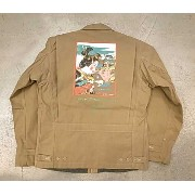 ★SALE 30%OFF★ HELLER'S CAFE ヘラーズカフェ HC-243 1940's War Art U.S.Army M41 Field Jacket PRINTED バックプリント...