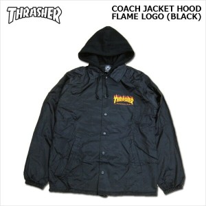 THRASHER(スラッシャー)/コーチジャケット/FLAME LOGO COACH JACKET HOOD[Black]
