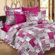 Candy Cotton Basics Home Bedsheets for Double Bed with 2 Pillow Covers, Baby Pink