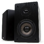 Micca MB42 Bookshelf Speakers With 4-Inch Carbon Fiber Woofer and Silk Dome Tweeter (Black, Pair) ...
