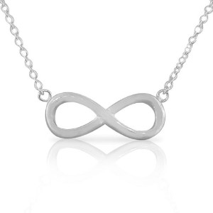 925 Sterling Silver Classic Infinity Charm Womens Girls Pendant Necklace