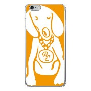 【送料無料】 Dog オレンジ×ホワイト design by ROTM (クリア) / for iPhone 6 Plus/Apple 【SECOND SKIN】アップル iphone6 plus...
