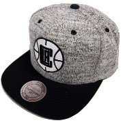 Mitchell & Ness NBA Los Angeles Clippers Grey Duster EU957 Snapback Cap Basecaps