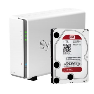 Synology DiskStation DS115j 1ベイNASキット HDD付属設定有 (HDD WD Red 1TBx1台付属)