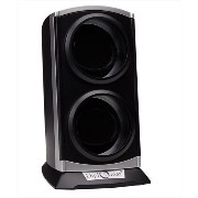 Diplomat ディプロマット ウォッチワインダー Double Metallic Silver Black Watch Winder with Built In IC Timer 送料無料