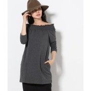 【ONLY HEARTS】 FrenchTerryギャザーTOPS【スピック&スパン/Spick & Span Tシャツ・カットソー】