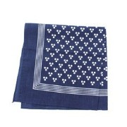 【LABOUR AND WAIT】C070 THREE SPOT HANDKERCHIEF【ビショップ/Bshop バンダナ・スカーフ】