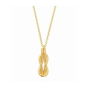 ON THE SUNNYSIDE OF THE STREET Sailor Knot Necklace Gold【エディフィス/EDIFICE ネックレス】
