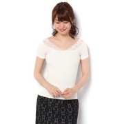 CECIL McBEE(セシルマクビー)レースリブカットソー312540836【セシルマクビー/CECIL McBEE Tシャツ・カットソー】