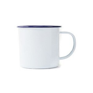 【LABOUR AND WAIT】K112 ENAMEL MUG WHITE w/NAVY Rim【ビショップ/Bshop 食器・キッチングッズ】