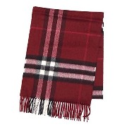Burberry バーバリー GIANT CHECK CASHMERE SCARF 168X30CM マフラー ダークピンク GIANT ICON 168 [並行輸入品]