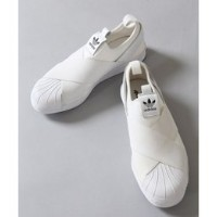 【adidas】superstar slip on【アイボリー コート/ivory court スニーカー】