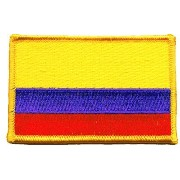 The Flag of COLOMBIA PATCH, Superior Quality Iron-On / Saw-On Embroidered Patch - Each one is...